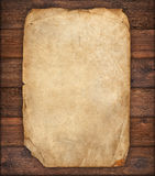 Old Paper On Wood Texture Royalty Free Stock Photos