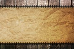 Old Paper On Wooden Background Royalty Free Stock Images