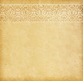 Old paper with oriental ornament. Stock Photography