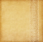 Old paper with oriental ornament Royalty Free Stock Photo