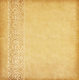 Old paper with oriental ornament. Stock Photos