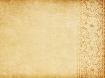 Old  paper with oriental ornament. Royalty Free Stock Image