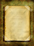Old paper over grunge wallpaper Royalty Free Stock Photo