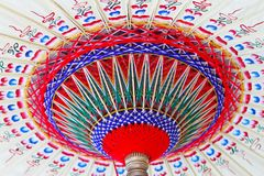 Old paper parasol Stock Images