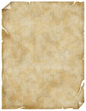 Old paper or parchment Royalty Free Stock Photography