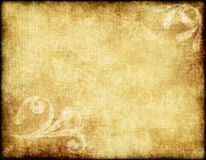 Old paper or parchment. Large old paper or parchment background texture with large floral design vector illustration