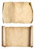 Old paper parchments 3d illustration set Stock Photos