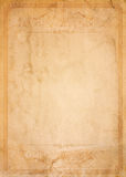 Old paper with patterned vintage frame. Blank for your design Stock Images