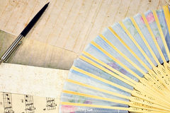 Old paper and pen Stock Photos