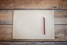 Old paper and pencil Royalty Free Stock Photos