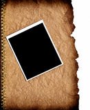 Old paper and photo frame Stock Images