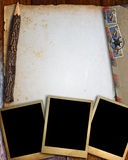 Old paper and photo frame Royalty Free Stock Images