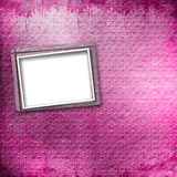 Old paper photo frame on the vintage background Stock Photography
