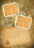 Old paper with photoframeworks Royalty Free Stock Images
