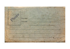 Old paper postcard with lines Stock Photos
