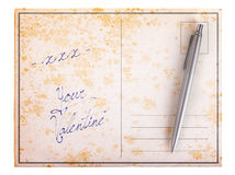 Old paper postcard - xxx your valentine Stock Images