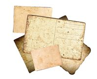 Old paper and postcards Royalty Free Stock Photo