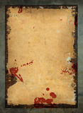 Old paper poster. Red stains Stock Photography