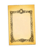 Old paper with printed antique frame. Stock Image