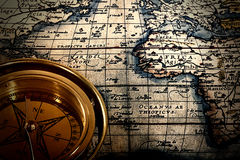 Old paper printed map Royalty Free Stock Images