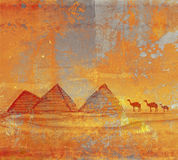 Old paper with pyramids Stock Image