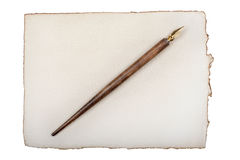 Old paper with quill pen Royalty Free Stock Image