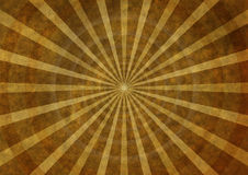 Old paper with rays and concentric circles Royalty Free Stock Images