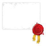 Old paper with red wax seal Royalty Free Stock Image