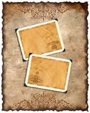 Old paper and retro photo framework Stock Image