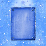 Old paper with rivet for photo. On the Winter background Royalty Free Illustration