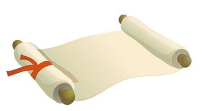 Old paper roll Stock Photography