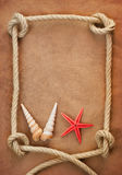 Old paper and rope Royalty Free Stock Photography