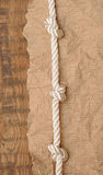 Old paper with rope Royalty Free Stock Images