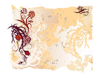 Old paper with roses Royalty Free Stock Image