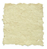 Old paper with rough edges on white Stock Image