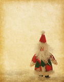 Old paper with Santa Claus Stock Photo