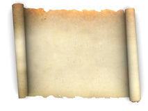 Old paper scroll Stock Photo