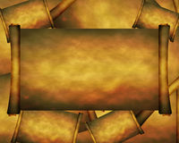 Old paper scroll Royalty Free Stock Photos