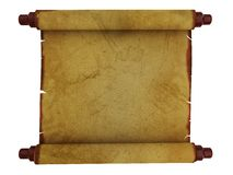 Old paper scroll Royalty Free Stock Photo