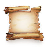 Old paper scroll antique manuscript bundle banner Stock Photos