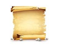 Old paper scroll antique manuscript bundle banner Stock Images