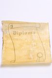 Old paper scroll diploma Stock Photos