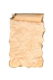 Old paper scroll isolated stock image