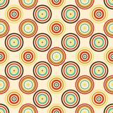 Old paper seamless pattern with colorful retro rings royalty free illustration