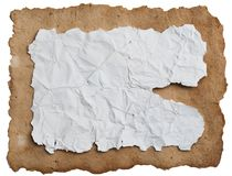 Old paper sheet. Royalty Free Stock Photos