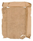 Old paper sheet. Blank old paper sheet with stains on white background royalty free stock photography