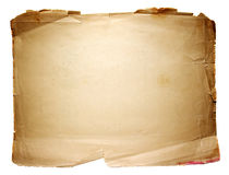 Old paper sheet. On a white background Royalty Free Stock Photos