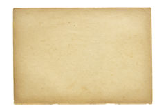 Old paper sheet. Isolated on white Royalty Free Stock Images