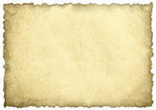 Old paper sheet. Isolated on white Royalty Free Stock Photography