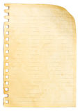 Old Paper Sheet Royalty Free Stock Photos